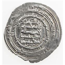 ABBASID: al-Muqtadir, 908-932, AR dirham (3.15g), Fars, AH299. EF