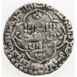 ABBASID: al-Mustansir, 1226-1242, AR 1/2 dirham (1.14g), Madinat al-Salam, AH637. F