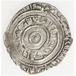 FATIMID: al-'Aziz, 975-996, AR 1/2 dirham (1.40g), Misr, AH371. VF