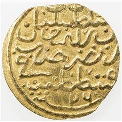 OTTOMAN EMPIRE: Suleyman I, 1520-1566, AV sultani (3.39g), Kostantiniye, AH926. VF-EF