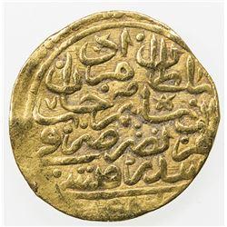 OTTOMAN EMPIRE: Murad III, 1574-1595, AV sultani (3.13g), Misr, AH982. F