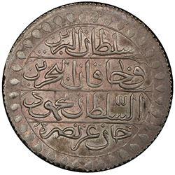 ALGIERS: Mahmud II, 1808-1830, AR 2 budju, Jaza'ir, AH1239. PCGS AU58