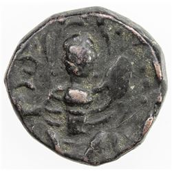 KUSHAN: Anonymous, ca. 4th century, AE small unit (3.76g). VF
