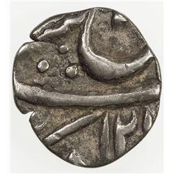 AWADH: AR 1/16 rupee (0.64g), Muhammadabad Banaras, AH121x, frozen year 26. VF-EF