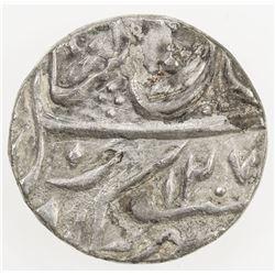 "AWADH: AR 1/2 rupee (5.51g), Muhammadabad Banaras, AH1207 year ""26"". VF-EF"