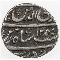AWADH: Ghazi-ud-Din Haidar, 1819-1827, AR 1/4 rupee (2.77g), Lucknow, AH1240 year 6. F-VF