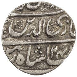 AWADH: Ghazi-ud-Din Haidar, 1819-1827, AR 1/4 rupee (2.81g), Lucknow, AH124x year 9. VF