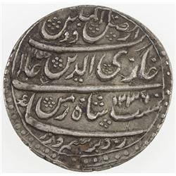 AWADH: Ghazi-ud-Din Haidar, 1819-1827, AR rupee (11.15g), Lucknow, AH1236 year 2. EF