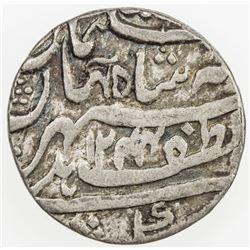 AWADH: Nasir-ud-Din Haidar, 1827-1837, AR 1/2 rupee (5.47g), Lucknow, AH1244 year 2. F-VF