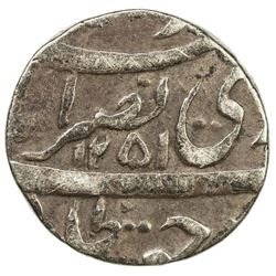 AWADH: Nasir-ud-Din Haidar, 1829-1837, AR 1/8 rupee (1.39g), Lucknow, AH1251. F-VF