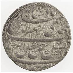 AWADH: Nasir-ud-Din Haidar, 1827-1837, AR rupee (11.12g), Lucknow, 1248 year 5. EF
