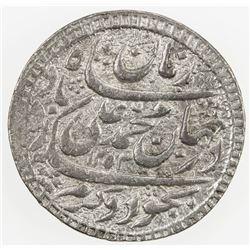 AWADH: Muhammad Ali Shah, 1837-1842, AR rupee (11.14g), Lucknow, AH1253 year 1. EF