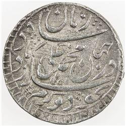 AWADH: Muhammad Ali Shah, 1837-1842, AR rupee (11.13g), Lucknow, AH1255 year 3. EF