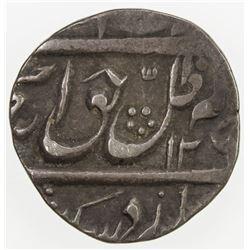 AWADH: Amjad Ali Shah, 1842-1847, AR 1/4 rupee (2.54g), Lucknow, AH126x. VF