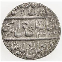 AWADH: Amjad Ali Shah, 1842-1847, AR rupee (11.16g), Lucknow, AH1262 year 4. EF-AU