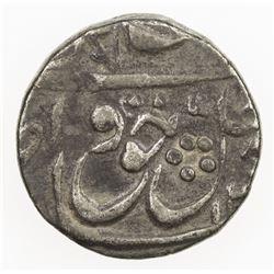 AWADH: Wajid Ali Shah, 1847-1856, AR 1/8 rupee (1.37g), Lucknow, DM. VF