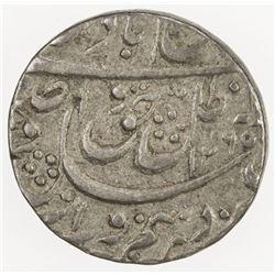 AWADH: Wajid Ali Shah, 1847-1856, AR 1/4 rupee (2.77g), Lucknow, AH1265. VF