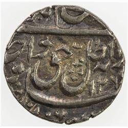 AWADH: Wajid Ali Shah, 1847-1856, AR 1/4 rupee (2.79g), Lucknow, AH126(9?). VF-EF