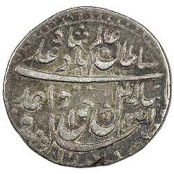 AWADH: Wajid Ali Shah, 1847-1856, AR 1/2 rupee (5.54g), Lucknow, AH1271 year 9. VF