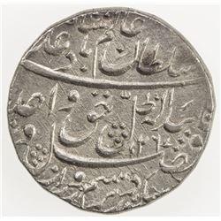 AWADH: Wajid Ali Shah, 1847-1856, AR rupee (11.18g), Lucknow, AH1267 year 4. EF