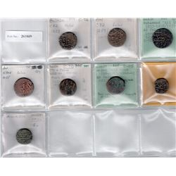 AWADH: LOT of 8 copper paise, retail ,value $160