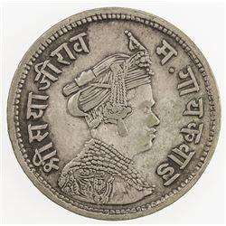 BARODA: Sivaji Rao III, 1875-1938, AR 1/2 rupee (5.70g), VS1948. VF