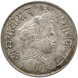 BARODA: Sivaji Rao III, 1875-1938, AR 1/2 rupee, VS1951 (1894). EF