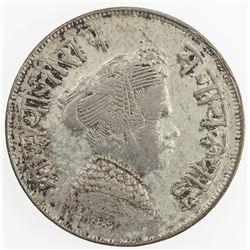 BARODA: Sivaji Rao III, 1875-1938, AR 1/2 rupee (5.70g), VS1948. VF-EF