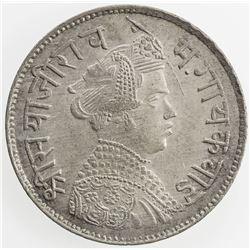 BARODA: Sivaji Rao III, 1875-1938, AR rupee, VS1952 (1895). AU
