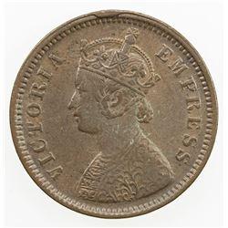 DHAR: Anand Rao III, 1860-1898, AE 1/2 pice, 1887. EF