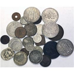 HYDERABAD: LOT of 29 pieces  (silver and base metals)