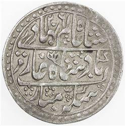 JAIPUR: AR nazarana rupee (11.19g), Sawai Jaipur, AH1206 year 33. VF