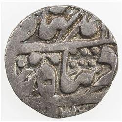 JAIPUR: AR 1/4 rupee (2.74g), Sawai Jaipur, year 20. EF