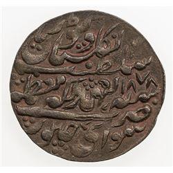 JAIPUR: Ram Singh, 1835-1880, AE nazarana paisa (6.26g), Sawai Jaipur, 1878 year 43. EF-AU