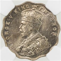 BRITISH INDIA: George V, 1910-1936, 1 anna, 1919(b)