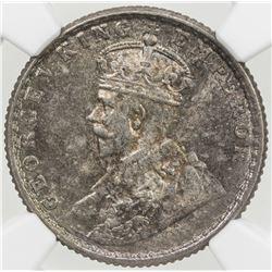 BRITISH INDIA: George V, 1910-1936, AR 1/4 rupee, 1919(c)