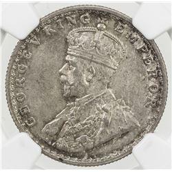 BRITISH INDIA: George V, 1910-1936, AR 1/2 rupee, 1919(b)