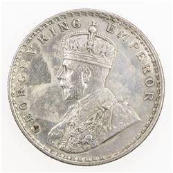 BRITISH INDIA: George V, 1910-1936, AR rupee, 1911(c). EF