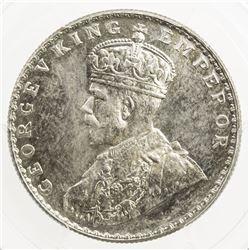 BRITISH INDIA: George V, 1910-1936, AR rupee, 1912 (b), KM-524, S& W-8.19, Prid-218, PCGS MS65