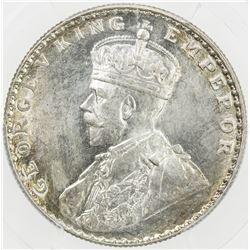 BRITISH INDIA: George V, 1910-1936, AR rupee, 1912(b). PCGS MS65