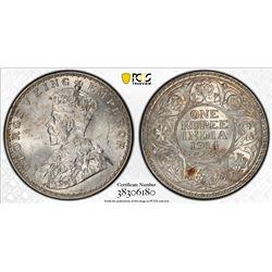 BRITISH INDIA: George V, 1910-1936, AR rupee, 1914(b). PCGS MS63