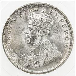 BRITISH INDIA: George V, 1910-1936, AR rupee, 1920 (b), KM-524, PCGS graded MS65
