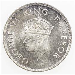 BRITISH INDIA: George VI, 1936-1947, AR rupee, 1938(b). UNC