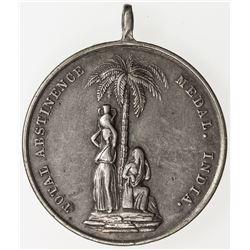 BRITISH INDIA: AR medal  (20.98g), ND, 34mm, Temperance medal, EF
