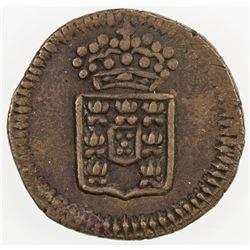 PORTUGUESE INDIA: Maria II, 1834-1853, AE 3 reis, ND. VF