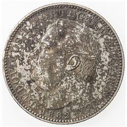 PORTUGUESE INDIA: Luiz I, 1861-1889, AR rupia, 1882. EF