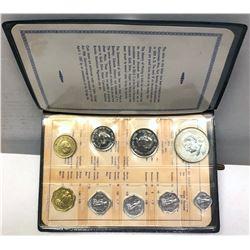 INDIA: Republic, 9-coin proof set, 1969-B