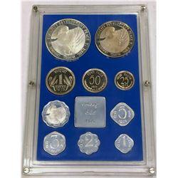 INDIA: Republic, 10-coin proof set, 1975-B