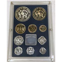 INDIA: Republic, 10-coin proof set, 1977-B