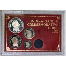 INDIA: Republic, 4-coin proof set, 1985-B